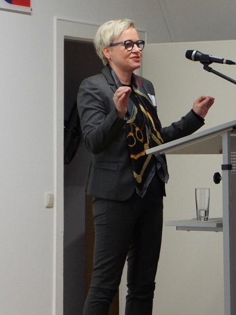 Christina Pollmann, nfb-Vorstandsmitglied und Moderatorin der Veranstaltung